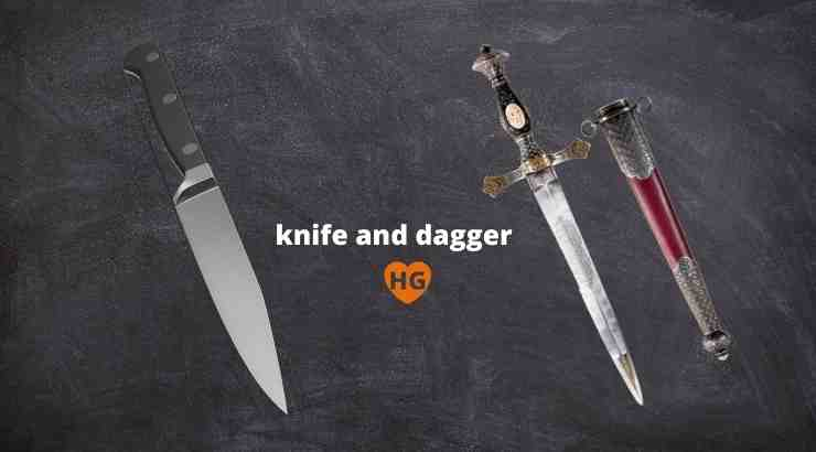 difference between knife and dagger
